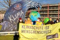 Aktion zum Globalen Klimastreik am 19.03.2021