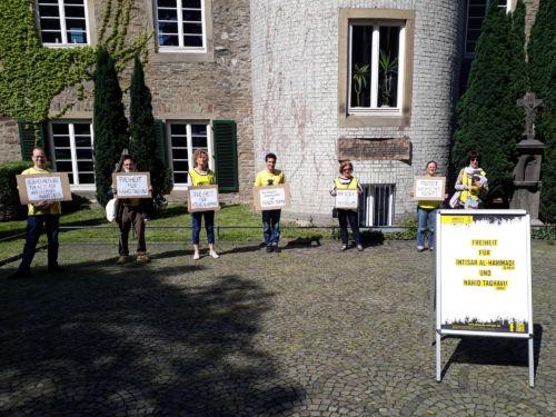 Mahnwache für Intisar al-Hammadi und Nahid Taghavi in Ratingen