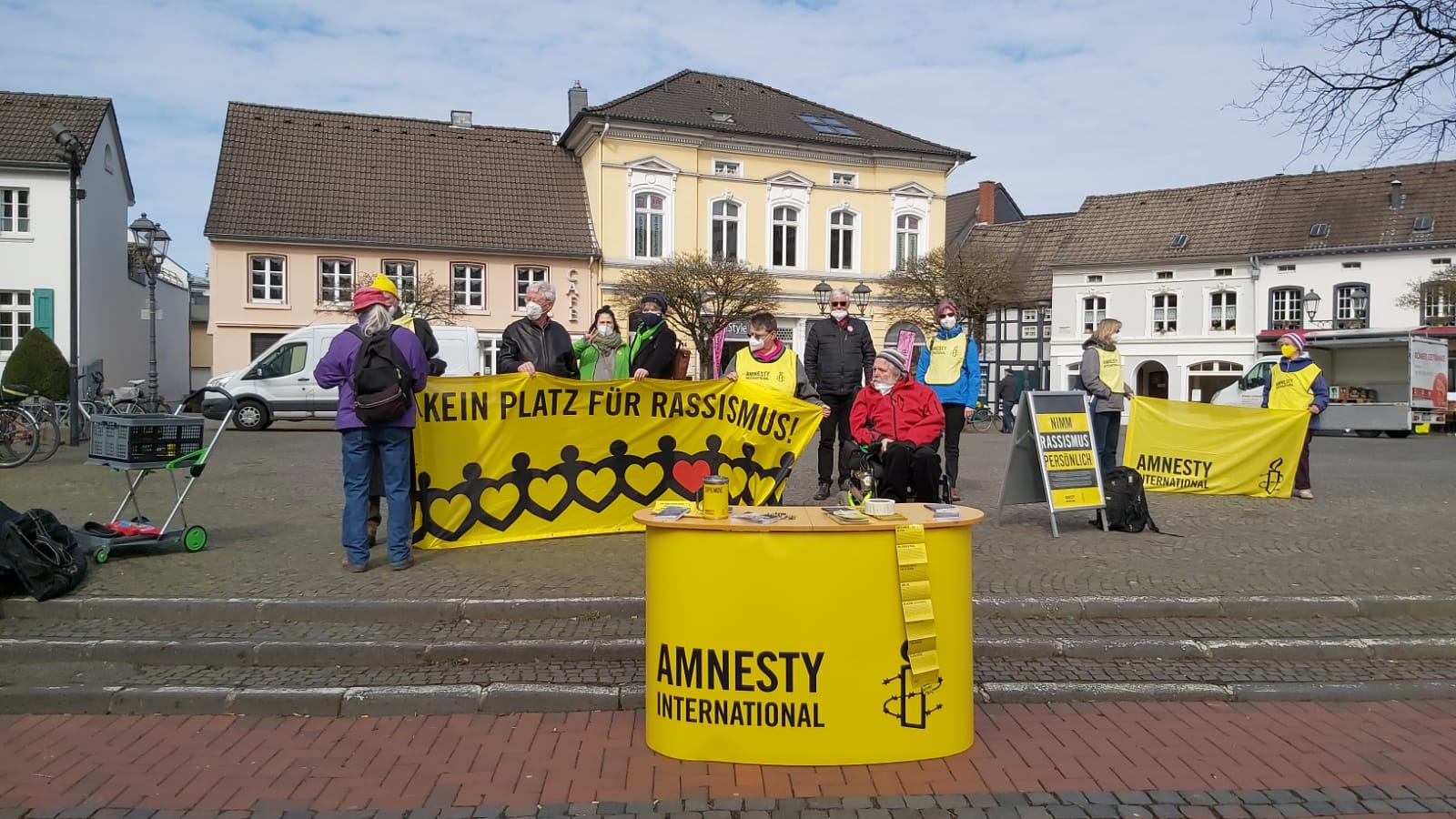 Mahnwache gegen Rassismus am 20.03.2021 in Hilden