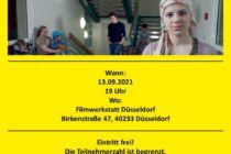 Flyer Film Willkommen auf Deutsch (Vorderseite)