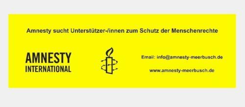 Banner Amnesty Meerbusch