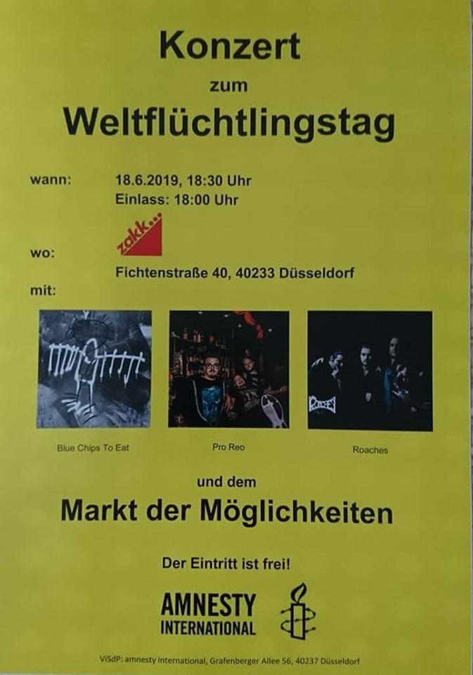 Flyer - Konzert zum Weltflüchtlingstag 2019