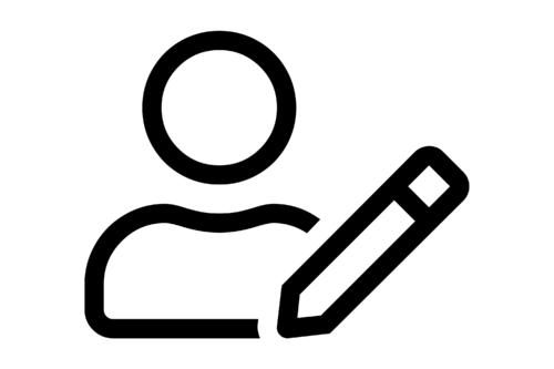 Mensch mit Stift